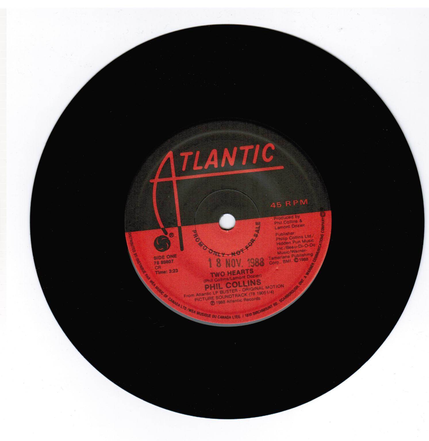 Phil Collins Two Hearts The Robbery Beatnick Records