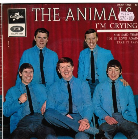 ANIMALS - I'm Crying / Take It Easy / She Said Yeah / I'm In Love Again - 7inch (EP) x 2