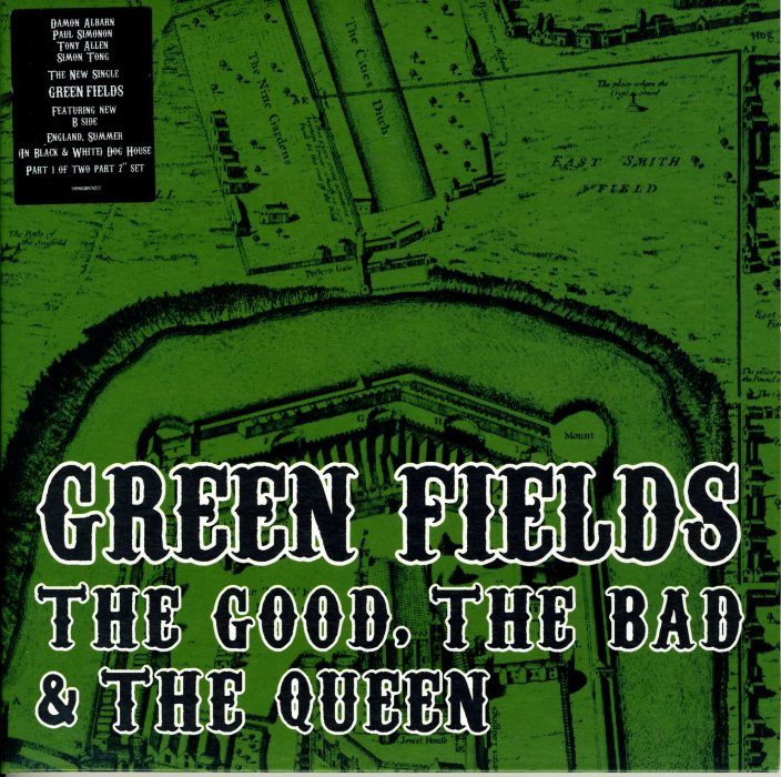 Good the bad & the queen   Green fields / England summer (in black and white) dog house (2007)