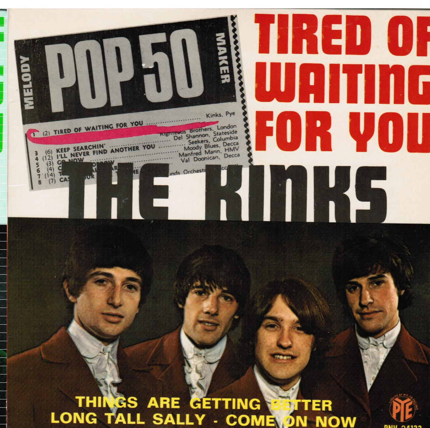 The Kinks | Tired Of Waiting For You French EP